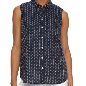 croft & barrow Tops - Anchor blouse tank